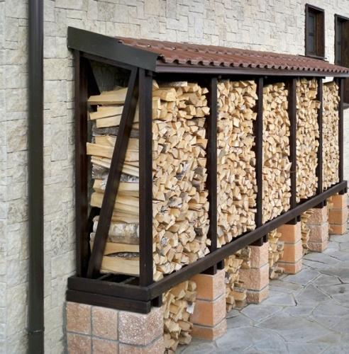 Для дров из поддонов своими руками